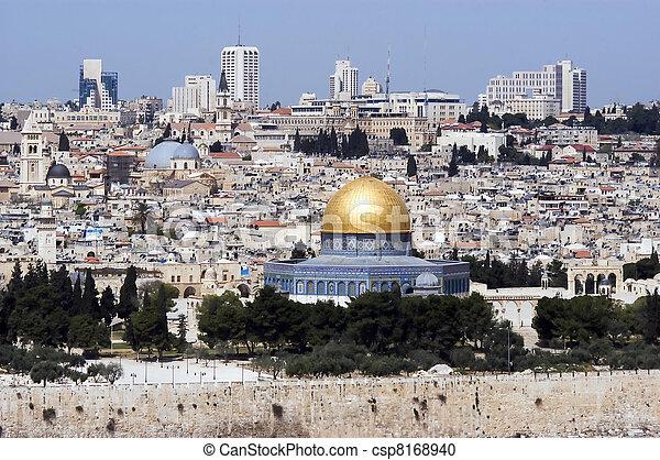 Jerusalem Old City View - csp8168940