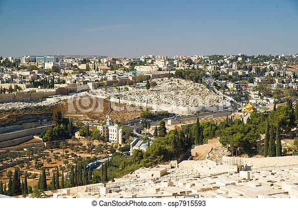 Jerusalem panorama - csp7915593