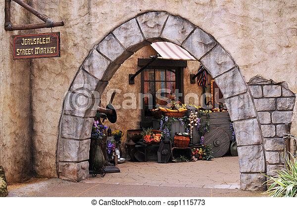 Jerusalem Street Market - csp1115773