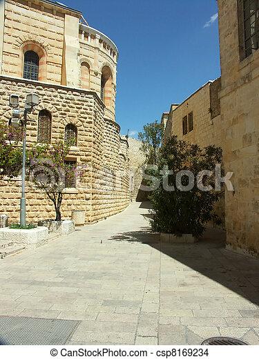 jerusalem street - csp8169234