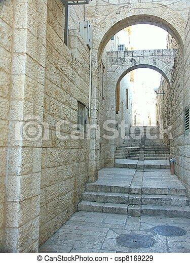 jerusalem street - csp8169229