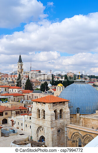 Jerusalem, view to Church Of The Holy Sepulchre - csp7994772