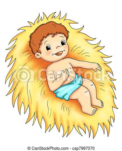 Niño Jesús Ilustración De Colores De Jesús