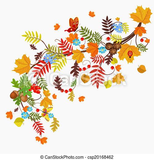 jesień, modelujcie zamiar, liść, twój - csp20168462