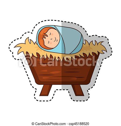 Jesus Baby Manger Character
