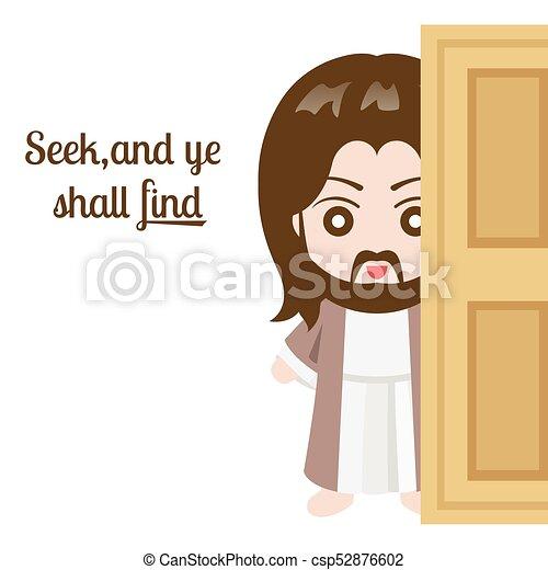Jesus christ and door on white background vector illustration jesus christ and door on white background vector illustration altavistaventures Gallery