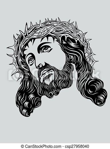 Jesus Christ Face   Csp27958040