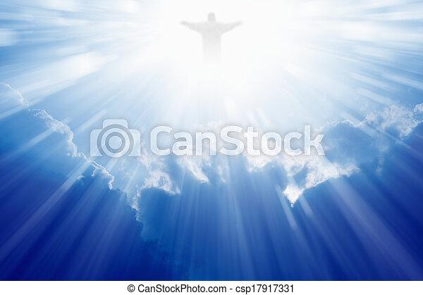 Jesus Christ in heaven - csp17917331