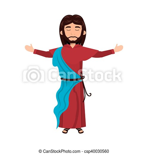 jesus christ man cartoon jesus christ man with open arms clip rh canstockphoto com jesus christ clipart images jesus christ superstar clipart