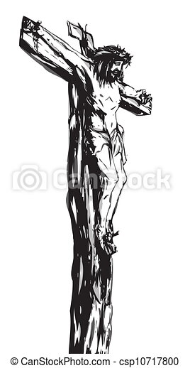 Jesus Christ on the Cross  - csp10717800