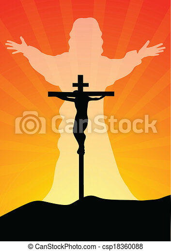 Jesus christ resurected - csp18360088