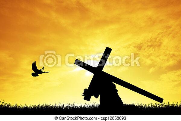 jesus cross christ carrying the cross