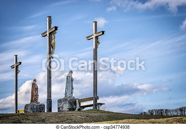 Jesus cross in Bavaria - csp34774938