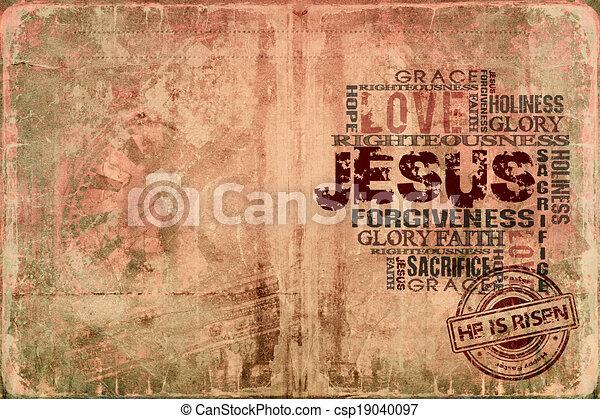 Jesus He is risen - csp19040097