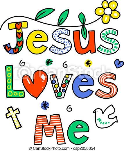 Jesus loves me - csp2058854