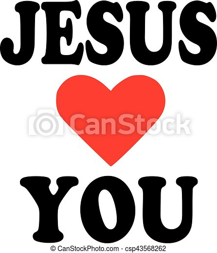 Jesus loves you icon.
