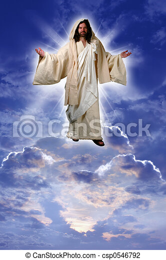 jesus on a cloud taken up to heaven after his resurrection clip