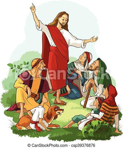 Jesus Preaches the Gospel - csp39376876