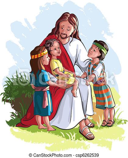 Jesus With Children - csp6262539