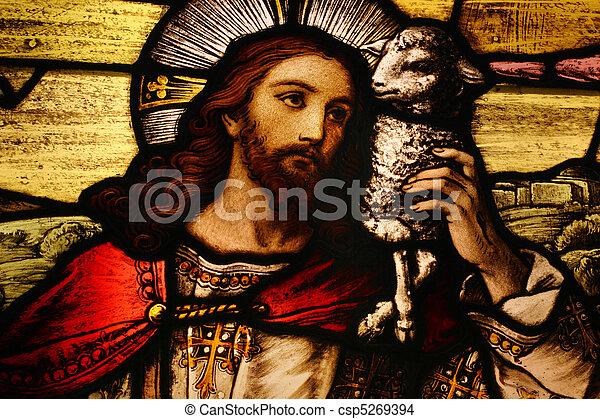 Jesus with Lamb - csp5269394