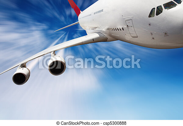 Jet airplane in the sky - csp5300888