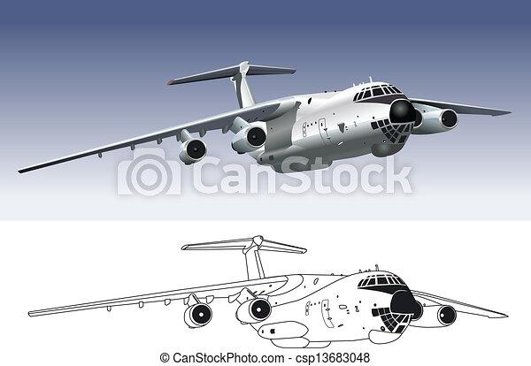 jet cargo airplane - csp13683048