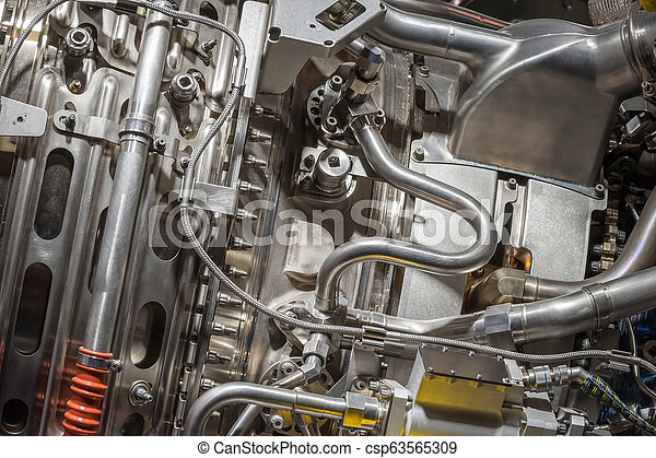 jet engine detail closeup - csp63565309