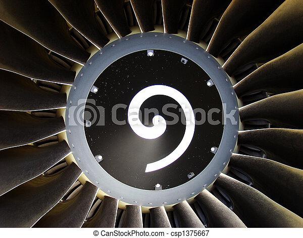 Jet engine detail - csp1375667