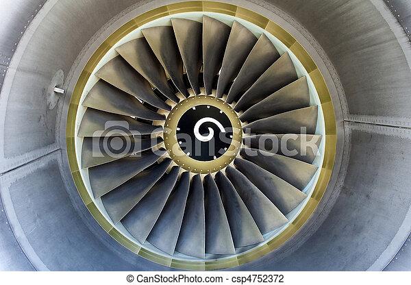 Jet engine detail. - csp4752372