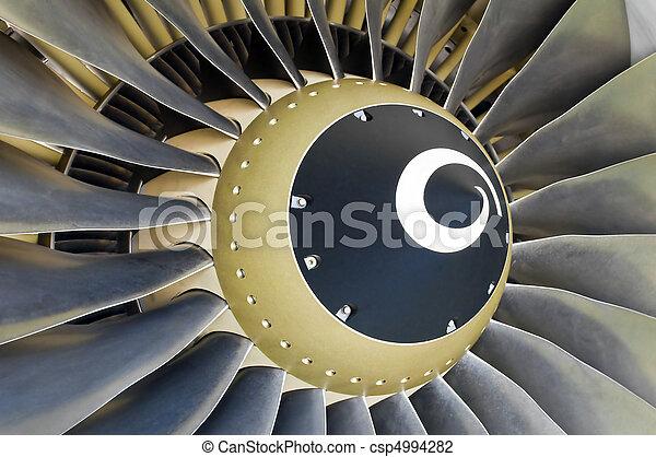 Jet engine detail. - csp4994282
