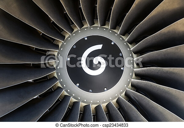 Jet engine detail. - csp23434833