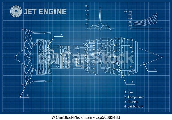 Jet engine industrial vector blueprint jet engine of airplane jet engine industrial vector blueprint malvernweather Image collections
