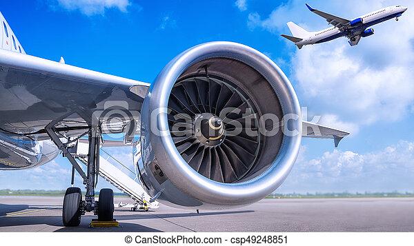 jet engine - csp49248851