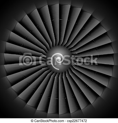 Jet engine turbine blades - csp22677472