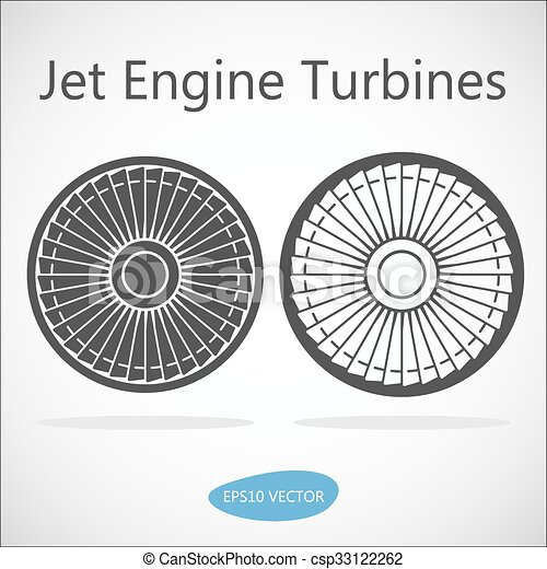 Jet Engine Turbine Front View - csp33122262