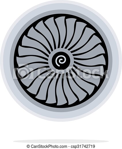 Jet engine turbine - csp31742719