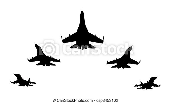 Jet fighters - csp3453102