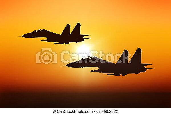 Jet fighters - csp3902322