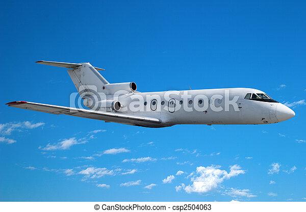 Jet in flight - csp2504063