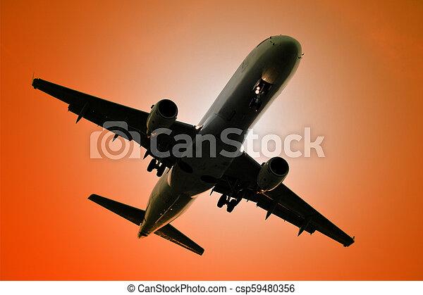 Jet plane - csp59480356