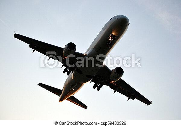 Jet plane - csp59480326