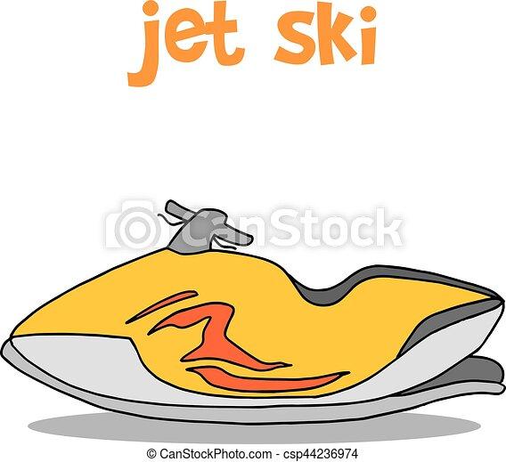 jet ski cartoon hand draw vector illustration vectors illustration