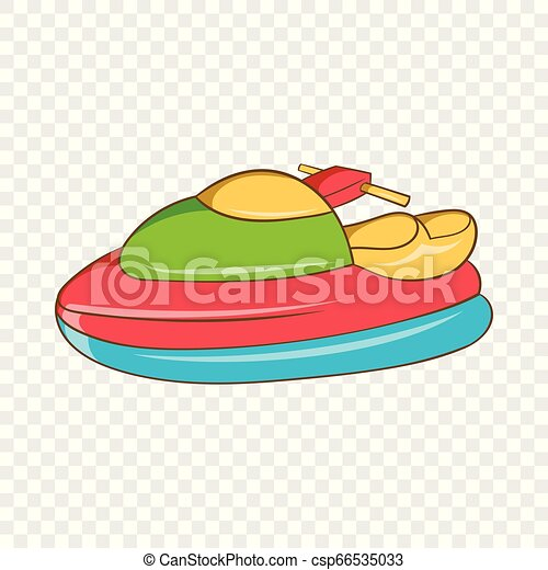 Jet Ski Icon Cartoon Style Jet Ski Icon In Cartoon Style Isolated On Background For Any Web Design