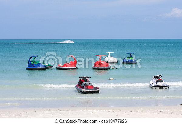 jet, thalland, scooter, eau océan, ski, ou - csp13477926