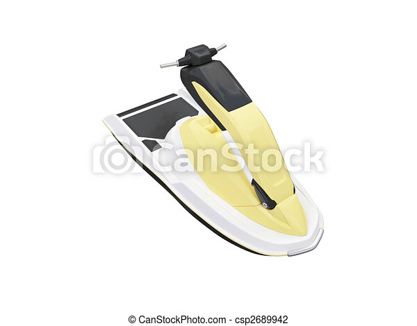 Jetski isolated front view - csp2689942