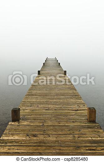 Jetty Into The Mist - csp8285480