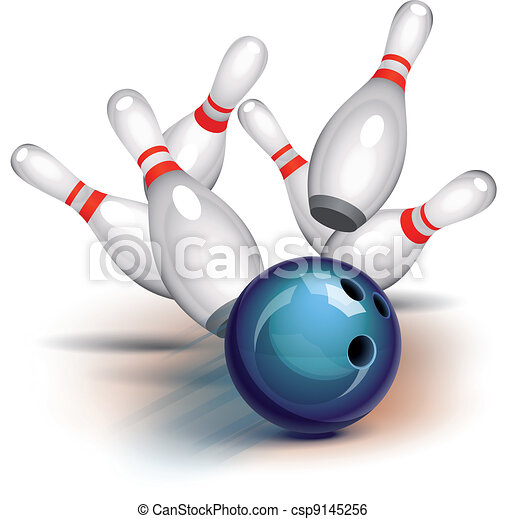 jeu, (front, view), bowling - csp9145256