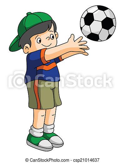 jeu, gosses, football - csp21014637
