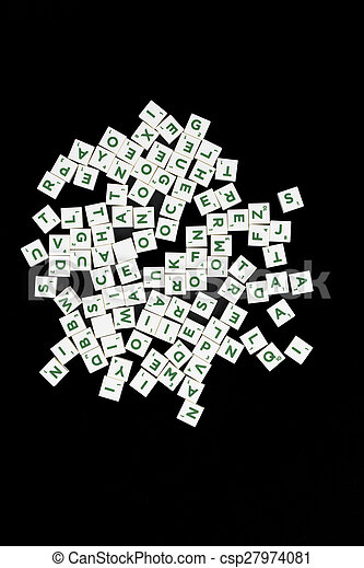 jeu, mot, tuiles, lettre - csp27974081