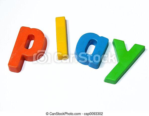 jeu, sortilège, abc, aimants, frigidaire - csp0093302